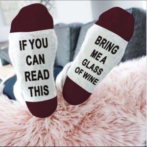 🍷 White and Burgundy Wine Socks 🍷